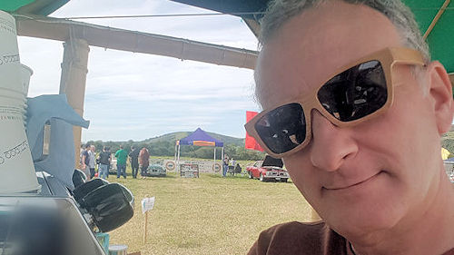 Bamboo Sunglasses were definitely needed at the Mendip Mower Racing Festival 2017